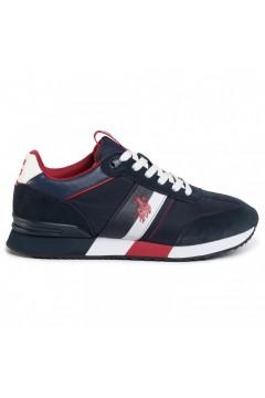 U. S. Polo Ass. Austen Scarpe Uomo Sneakers Stringate Blu Navy Rosso Sneakers AUSTENNAV