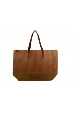 Basile BA20294RSS Borsa Donna Mare Yuta Doppi Manici 50 x 38 x 14 Beige Rosso Borse BA20294RSS