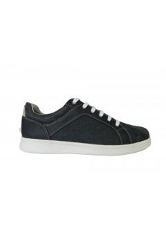 Geox U Warrens A U020LA Sneakers Uomo Stringate Camoscio Mesh Blu Sneakers U020LA0NBMEC4002