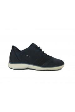 Geox U Nebula C U74D7C Sneakers Uomo Stringate Suede Blu Navy Casual U74D7C0BS22C4064