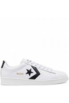 Converse 167237C Pro Leather Ox Low Sneakers Stringate Bianco Nero Scarpe Sport 167237C