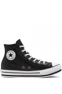 Converse 666391C Leather EVA Platform Chuck Taylor All Star Nero  Scarpe Bambina 666391C