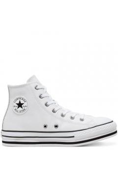 Converse 666392C Leather EVA Platform Chuck Taylor All Star Bianco  Scarpe Bambina 666392C