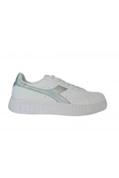 Diadora Game Step Shiny Scarpe da Ginnastica Platform Bianco Silver Francesine e Sneakers 10117436601C6103