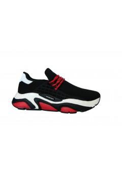 roccobarocco 36 Scarpe Uomo Sneakers Volume a Calza Nero Bianco Rosso Sneakers RB36NRBR