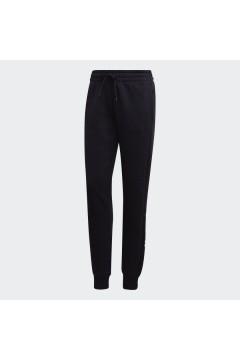 Adidas DP2399 Pantaloni Donna Essential Linear Cotone Felpato Nero Abbigliamento Sportivo DP2399