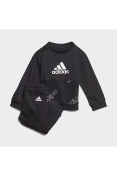 Adidas GD6102 Tuta Classics Jogging Unisex 0-4 Anni Black White  Abbigliamento Bambina GD6102