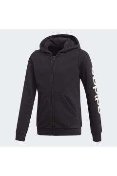 Adidas EH6124 Hoodie Linear Felpa con Cappuccio Unisex Nero Abbigliamento Bambino EH6124