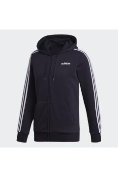 Adidas DQ3101 HOODIE Essentials 3-STRIPES Fleece Felpa Uomo con Cappuccio Nero Felpe e Maglie DQ3101
