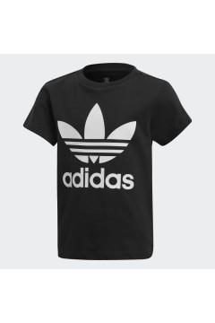 Adidas DV2858 T-Shirt Trefoil per Bambini Unisex Nero Abbigliamento Bambina DV2858