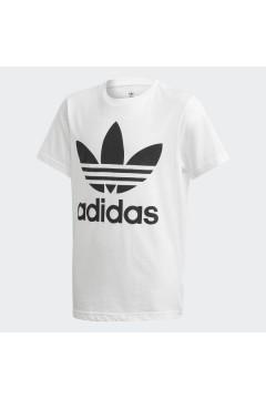 Adidas DV2904 T-Shirt Trefoil per Bambini Unisex Bianco Abbigliamento Bambina DV2904