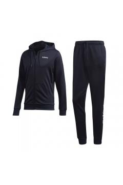 Adidas DV2450 Essential SuitTuta Completa Uomo con Cappuccio Acetato Blu Tute DV2450