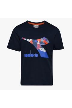 Diadora 102.176488 JU.LS T-SHIRT Chromia Bambino Blu Corsair Abbigliamento Bambino 102.17648860063
