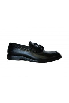 Akeis Made in Italy 313 Scarpe Uomo Mocassini Collage in Vera Pelle Nappine Nero Formale AK313NR