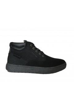 Navigare Bath NBK 24000 Scarpe Uomo Sneakers Mid Stringate Nero Casual NAM24000NR