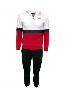 Diadora 102.176500 JB. HOODIE GZ Suit Tuta Completa per Bambino Tango Red Abbigliamento Bambino 1021765000145046