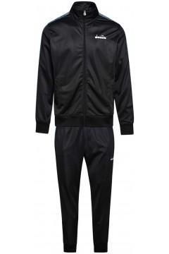 Diadora 102.176469 Cuff Suit Chromia Tuta Completa Uomo In Acetato Nero Tute 102.17646980013