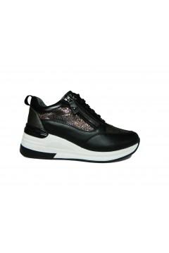 KEYS K 2500 Scarpe Donna Sneakers Stringate Nero Francesine e Sneakers K2500NR