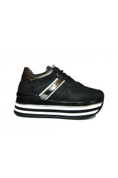 KEYS K 2650 Scarpe Donna Sneakers Stringate Platform Nero Francesine e Sneakers K2650NR