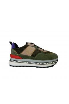 Gold & Gold GA583 Scarpe Donna Sneakers Platform Stringate Verde Multicolor  Francesine e Sneakers GA583VM