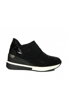 Gold & Gold GA567 Scarpe Donna Sneakers Slip On Strass Nero Francesine e Sneakers GA567NR