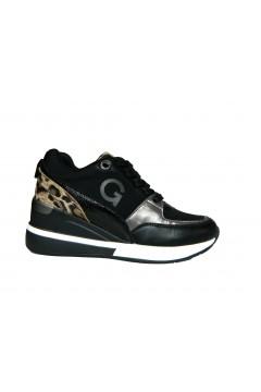 Gold & Gold GA569 Scarpe Donna Sneakers Stringate Animalier Nero Francesine e Sneakers GA569NR