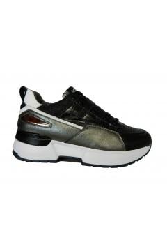 KEYS K 3462 Scarpe Donna Sneakers Stringate Platform Nero Grigio Francesine e Sneakers K3462GNR
