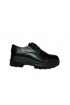 Wcubed 36621 Scarpe Donna Stringate Platform Eco Nero Francesine e Sneakers W36621PNR
