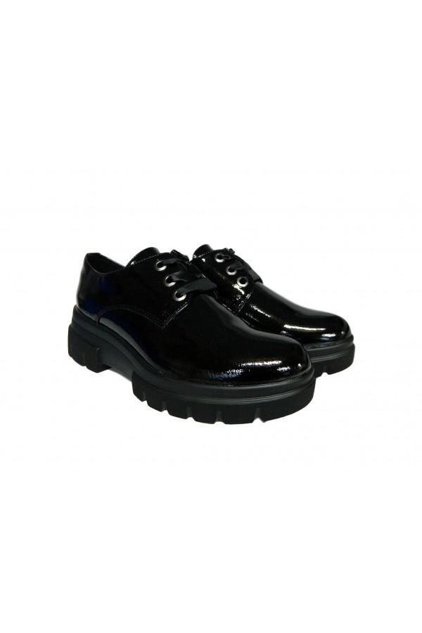 Wcubed 36621 Scarpe Donna Stringate Platform Naplack Nero Francesine e Sneakers W36621NR