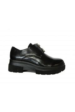 Wcubed 36620 Scarpe Donna Slip On Platform con Applicazione Naplack Nero Francesine e Sneakers W36620NNR