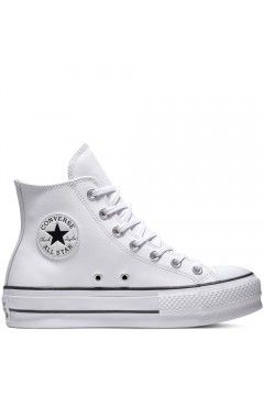 Converse 561676C Chuck Taylor All Star Platform Leather High-Top Bianco Francesine e Sneakers 561676C