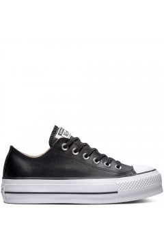 Converse 561681C Chuck Taylor All Star Platform Clean Leather Low-Top Nero Francesine e Sneakers 561681C