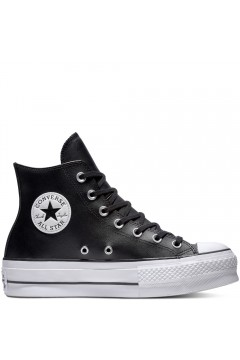 Converse 561675C Chuck Taylor All Star Platform Leather High-Top Nero Francesine e Sneakers 561675C