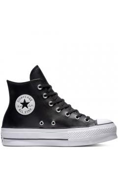 Converse 561675C Chuck Taylor All Star Platform Leather High-Top Nero Francesine e Sneakers 561675C