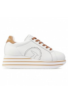 Trussardi Jeans 79A00557 Erika MD Sneakers Donna Stringate Platform White Leather Francesine e Sneakers 79A00557WL