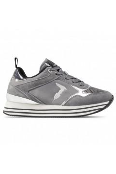 Trussardi Jeans 79A00541 Celtik Sneakers Donna Stringate Suede Mesh Grigio Francesine e Sneakers 79A00541E729
