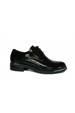 Wcubed 36765 Scarpe Donna Stringate in Vernice Nero Francesine e Sneakers 36765NR