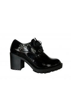 Wcubed 36686 Scarpe Donna Stringate Tacco Alto Naplack Nero Francesine e Sneakers W36686NNR