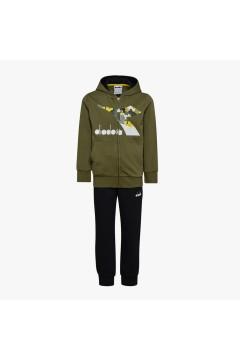 Diadora 102.176491 JU.HD FZ Suit Chromia Tuta Completa per Bambino Verde Abbigliamento Bambino 102.17649170449