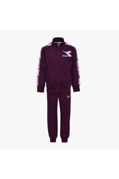 Diadora 102.176492 JU.FZ Suit Chromia Tuta Completa per Bambina Violet Grape Abbigliamento Bambina 1021764920155122