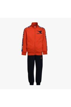 Diadora 102.176492 JU.FZ Suit Chromia Tuta Completa per Bambino Arancio Blu Abbigliamento Bambino 1021764920140069