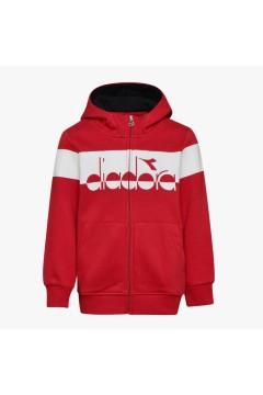 Diadora 102.176495 JB. Hoodie FZ Sweat 5Palle Tuta Completa per Bambini Tango Red Abbigliamento Bambino 102.17649545046