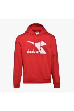 Diadora 102.176451 Hoodie Sweat Logo Felpa Uomo con Cappuccio Tango Red Felpe e Maglie 102.17645145046