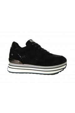 XTI 44476 Scarpe Donna Sneakers Stringate Platform Nero Francesine e Sneakers X44476NR