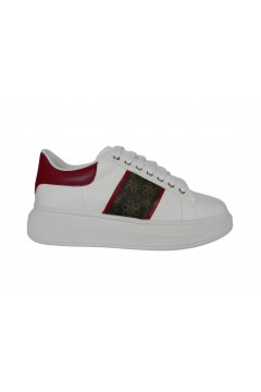 Gold & Gold GA579 Scarpe Donna Sneakers Oversize Stringate Bianco Rosso  Francesine e Sneakers GA579BRS