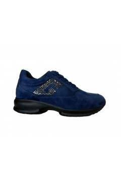 Gold & Gold GA705 Scarpe Donna Stringate Interactive Suede Blu Francesine e Sneakers GA705BLU