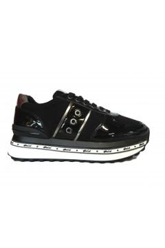 Gold & Gold GA600 Scarpe Donna Sneakers Platform Stringate Nero Francesine e Sneakers GA600NR