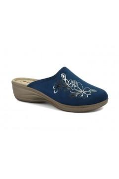 Inblu LY 58 Pantofole Donna in Panno Plantare in Pelle Blu Ciabatte e Infradito LY58BLU