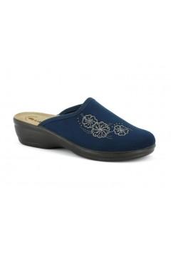Inblu BJ 109 Pantofole Donna in Panno Plantare in Pelle Blu Ciabatte e Infradito BJ109BLU