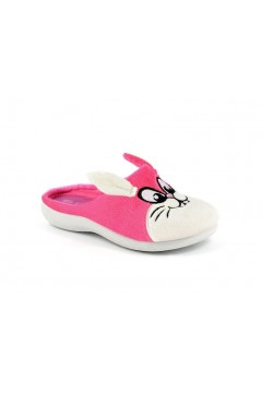 Inblu B9 24 Pantofole Bambina in Panno Bunny Fuxia Scarpe Bambina B924FUX
